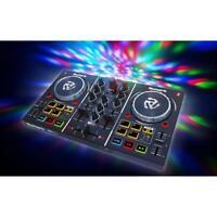 Numark Party Mix | 2-Deck DJ-Controller mit RGB LED Lichteffekt | Virtual DJ LE