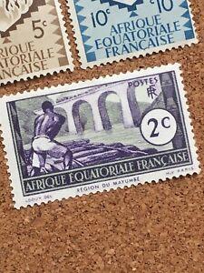 Afrique Equatoriale Française Stamp Mint Equatorial Guinea Gum Africa Unfranked