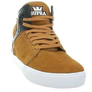 NEW Supra Atom Shoes Brown Black White S91013 SKATE MENS SIZE SZ 9