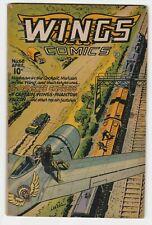 Wings Comics #68 VG-F 5.0 Fiction House Magazines War Spy Aviation 1946!