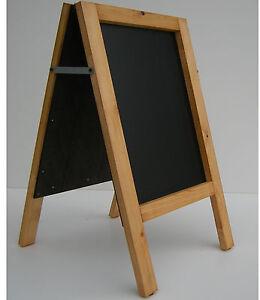 CHALKBOARD-PAVEMENT BOARD-SANDWICH-DISPLAY-BLACKBOARD - 80cm x 40cm 5KGS (G/OAK)