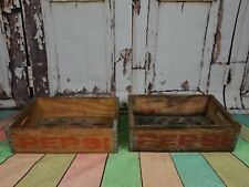 More details for original american wooden vintage  pepsi cola soda bottle crate prop display