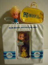 VINTAGE KIDDLE KLONE DOLL AIRLINE BAG KLM ROYAL DUTCH AIRLINES+ IRISH AERLINGUS
