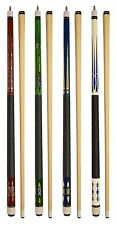 SET OF 4 POOL CUES New Two-Piece Billiard House Pool Cue Stick FREE SHIPPING