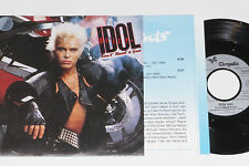 "BILLY IDOL -Don't Need A Gun / Fatal Charm- 7"" 45 mit Product Facts Promo-Flyer"