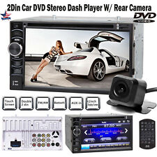 "6.2"" Double 2 Din Car Stereo HD CD DVD Radio Bluetooth Player And Backup Camera"