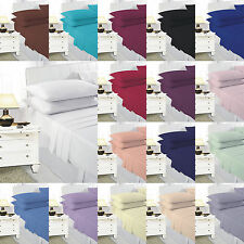 Sheet Set Fitted Flat sheet with Pillowcase Single Double Super King Bed Size
