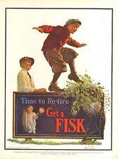 1926 FISK TIRE  BEEHIVE No. H18  ILLUSTRATOR  KERNAN ORIG VINTAGE AD