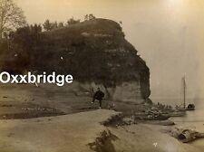 YANGTZE RIVER 1880 PHOTO Iching China ALBUMEN Yiching JUNK SAILBOAT Chinese Boat