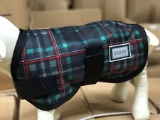 AXIOM 1800D TARTEN GREEN/RED CHECK WATERPROOF WARM DOG COAT 45CM
