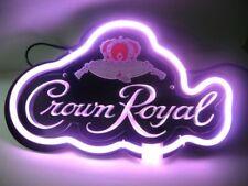 "Crown Royal 3D Neon Sign Beer Bar Gift 14""x10"" Light Lamp"