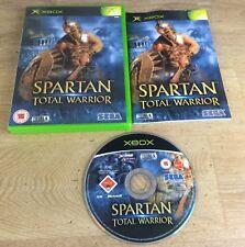 Microsoft Xbox Game * SPARTAN TOTAL WARRIOR * Complete Retro Rare