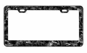 Real Forged Carbon Fiber License Plate Frame