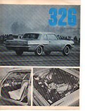 1963 PONTIAC TEMPEST 326 ~ ORIGINAL 5-PAGE ARTICLE / AD
