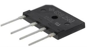2 x Vishay GSIB2580-E3/45, Bridge Rectifier, 25A 800V, 4-Pin GSIB-5S