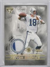 2001 Titanium Private Stock Game Worn 2 color jersey Peyton Manning Colts HOF