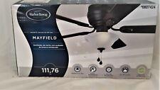 Harbor Breeze Mayfield 44-in Bronze  Flush Mount Ceiling Fan