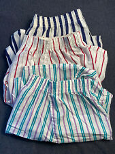 Vintage Fruit of the Loom mens boxer shorts large 38-40 striped 3 pairs