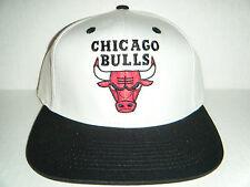 Chicago Bulls NEW w/ Sticker Snapback Hat Authentic Adidas Cap White/Black
