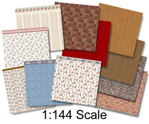 1:144 Scale Dollhouse - Wee Little Wallpapers 3, Dollhouse or Dutch Baby Scale