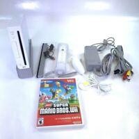 Nintendo Wii Video Game Console Backward Compatible RVL-001 Super Mario Bros