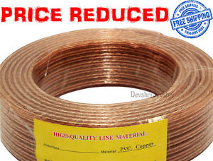 THICK 100M LOUD HEAVY SPEAKER WIRE CABLE HIGH QUALITY OXYGEN FREE Copper OFC