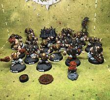 Pro Painted 18pcs Blood Bowl Dwarf Team. Very Rare Team.