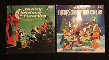 VINTAGE LOT OF 2 DISEY LP RECORDS MERRY CHRISTMAS CAROLS & CHRISTMAS FAVORITES