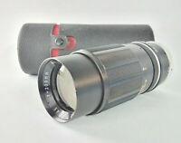 Tele-Lentar 200mm f/4.5 Prime 12-Blade Telephoto Camera Lens - T Mount