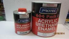 Marine Paint Shop PROTEC 604 Acrylic Urathane 2k-4:1=5lt Black Mat $219.95 F/D