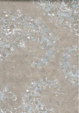 Splatter Paint Paisley Design Wallpaper in Gold, Blue/Gray & White - NTX25757