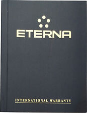 Eterna Watch Warranty Blank Guarantee & Instruction Booklet Navy Gold Cover