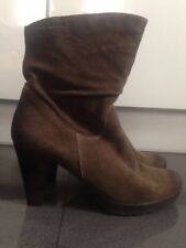 Tamaris Womens Brown Suede Boots Size 6,5(39)