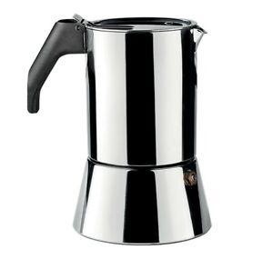 Alessi Caffettiera espresso  Richard Sapper, 3 tazze, acciaio inossidabile 18/10