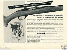 1964 Print Ad of Marlin 99C Monte Carlo Stock .22 Rifle