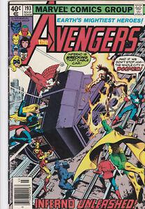 Avengers #193 Marvel Comics 1979 INFERNO UNLEASHED