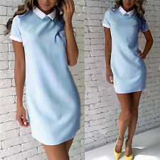 Women Summer Casual Short Sleeve Evening Party Cocktail Dress Short Mini Dress