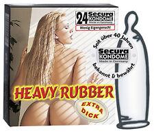 Secura *heavy rubber* KONDOME extra stark - wenig Eigengeruch - 24 Stück
