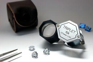 10X Polygon Gems Loupe Triplet  21mm  Gems Magnifier,Gems Magnifying Lens