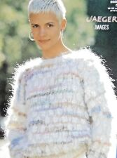 """JAEGER Knitting Pattn 5558-Ladies Mohair Puff Stitch Sweater 34""""-40"""" Not a copy"""