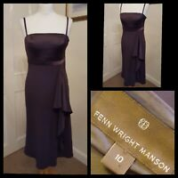 Fenn Wright Manson Chocolate Brown Fit and Flare Evening Cocktail Dress Size 10
