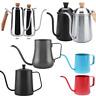 350/550/600/650ml Gooseneck Spout Coffee Pot Tea Kettle Maker Stainless Steel