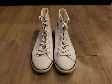 505614 - Converse Chuck Taylor All Star Light White Leather Shoes Womens 7.5