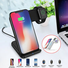 For Apple Watch Wireless Charger 2 in 1 Fast Wireless Charging Stand for iPhone