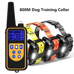 BEST SELL DOG SHOCK TRAINING COLLAR RECHARGEABLE REMOTE CONTROL WATERPROOF 800M