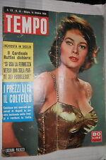 TEMPO 14 Ottobre 1958 Luciana Paluzzi Lucky Luciano Silvano Veronesi Fellini di