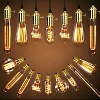 E26 E27 ES Vintage Antique Edison Bulb Style Tungsten Light Lamp Globe Bulb 110V