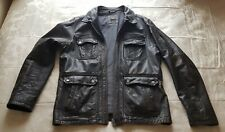 River Island Leather Jacket, Dark Brown, Size Large, 100% Real Leather.
