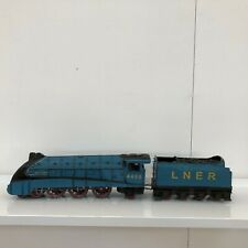 Vintage tin plate model train Mallard and tender 64cm Long 10cm Wide 13cm High