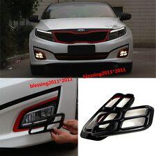 2pcs x Black 4 Eyes DRL Day Fog Driving Light/Lamp Cover For Kia K5 Optima 2014